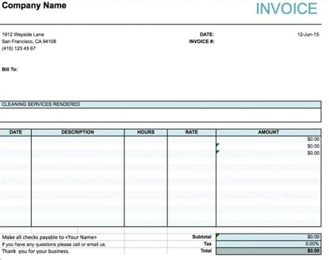 xl invoice template service invoice template xls rabitah net