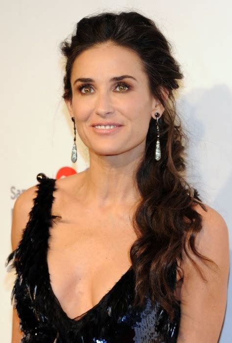 formal hair for women over 50 demi moore formal loose ponytail for women over 50