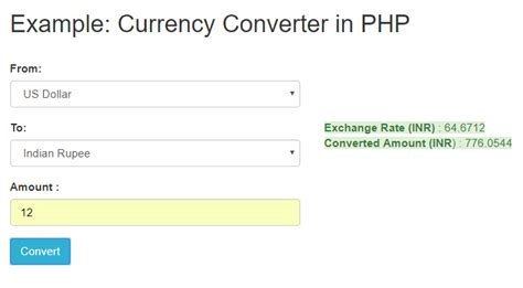currency converter api build currency converter in php with google api coderszine