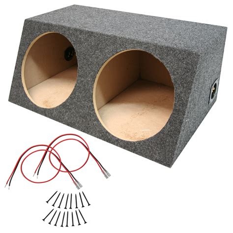 car audio dual   sealed stereo  box subwoofer bass speaker enclosure  wire kit