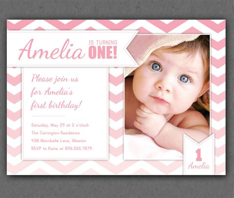 free one year birthday invitations template drevio - Free Birthday Invitation Templates For 1 Year