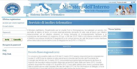 nullaosta interno valigie di cartone decreto flussi stagionali 2012 35 000
