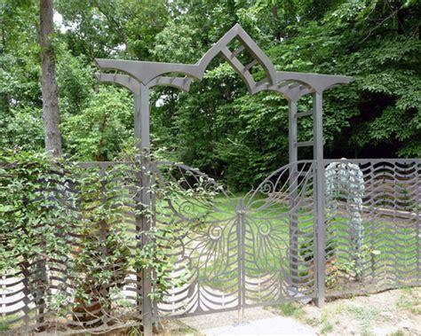 Trellis Art Butterfly Gate And Arbor Trellis Art Designs