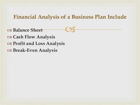 sle projected cash flow business plan economic analysis analysis of financial projection