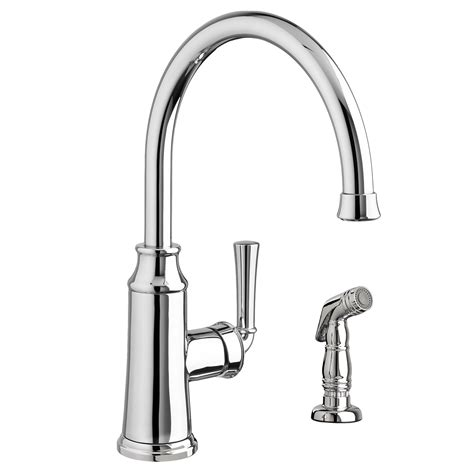 kitchen faucet side spray portsmouth 1 handle high arc kitchen faucet with side spray american standard