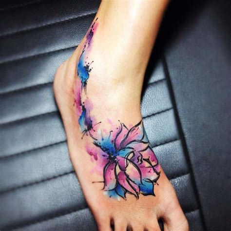 awesome foot tattoo designs beautiful lotus tattoos and ideas