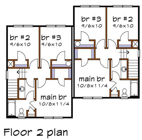 multi family plan 76379 at familyhomeplans com multi family plan 72785 at familyhomeplans com