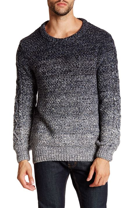 Sweater Soda Lyst Scotch Soda Cable Knit Crew Neck Sweater In Gray