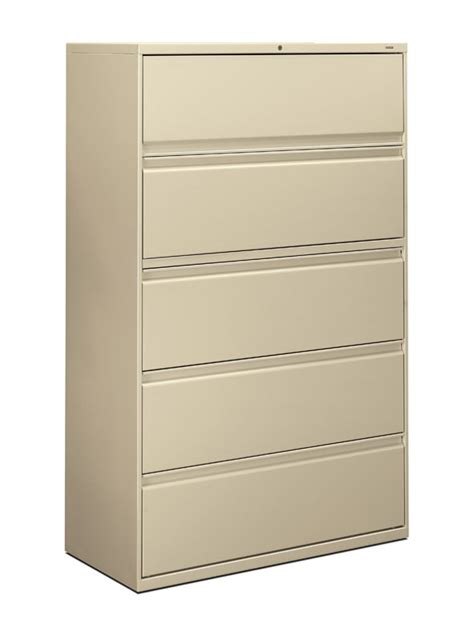 Five Drawer Lateral File Cabinet by Hon Brigade 800 Series 42 Inch 5 Drawer Lateral File Cabinet