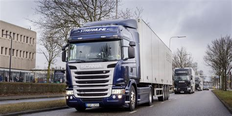 truck images what is truck platooning eu truck platoon challenge