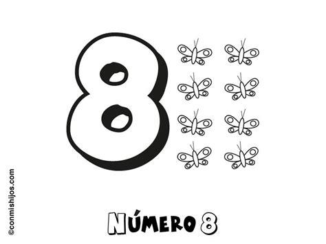 dibujo con el n mero 8 para pintar dibujos de n meros dibujo para colorear con los ni 241 os del n 250 mero 8