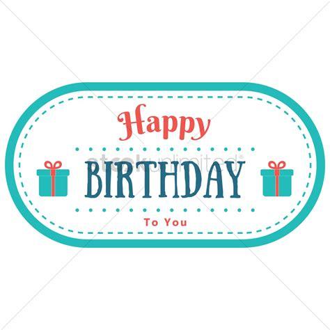 happy birthday sticker design happy birthday label design vector image 1799688