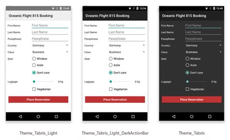 themes apps android customizing the appearance of a tabris js android app
