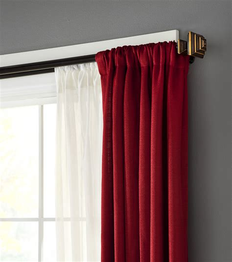 drapery hardware 36 66 room darkening deco rod jo