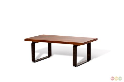 Rustic Mahogany Coffee Table Telluride Rustic Country Style Mahogany Coffee Table With Metal Legs