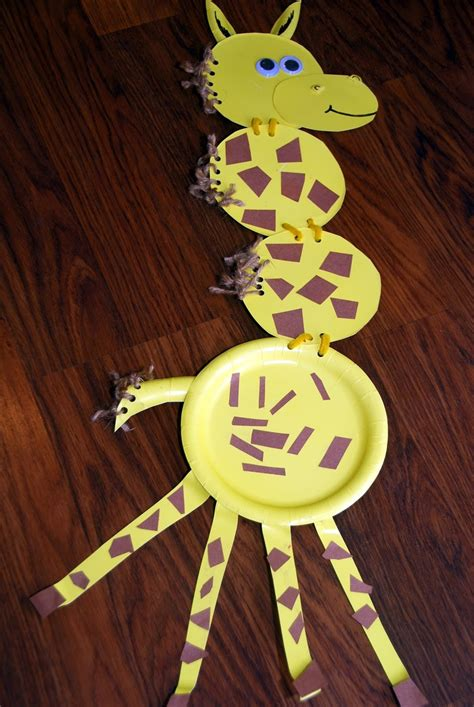 Giraffe Paper Plate Craft - 34 best images about safari vbs on brown paper
