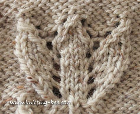 tbl knitting stitch tulip motif knitting knitting bee