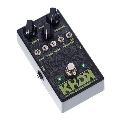 kirk hammett tube screamer khdk ghoul screamer kirk hammett overdrive guitar pedal