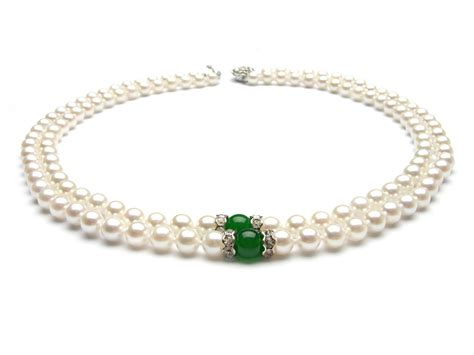 Pearl Necklace Strand White Akoya Pearl Necklace 7 5 8mm Aaa