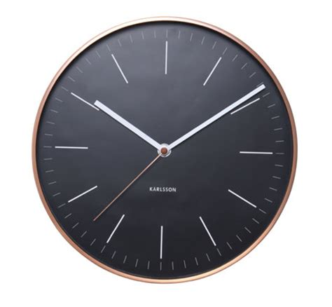 minimalist clock minimalist wall clock in black and copper