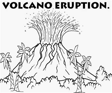 coloring page of volcano printable volcano coloring pages coloring home