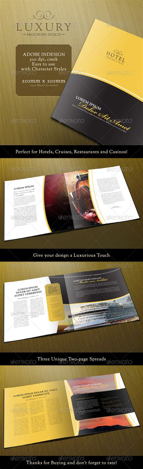 luxury 8 page brochure template casino infographics