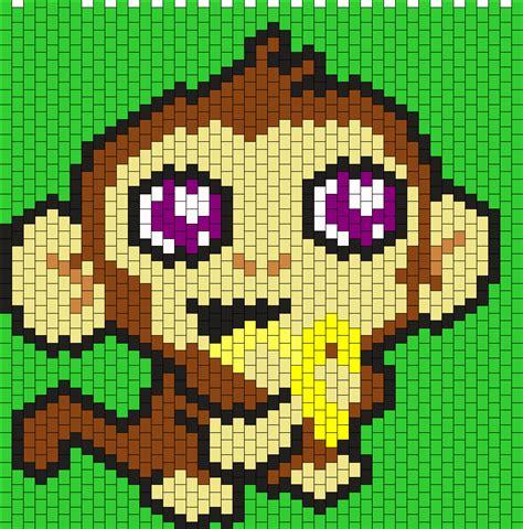 monkey pony bead pattern kandi patterns for kandi cuffs animals pony bead patterns