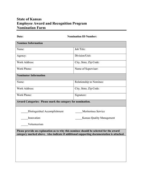 employee of the month nomination form template best photos of employee recognition nomination letter