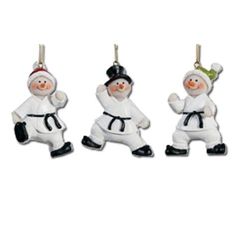 karate snowmen ornament set karate christmas ornaments