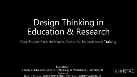 design thinking in education design thinking in education research