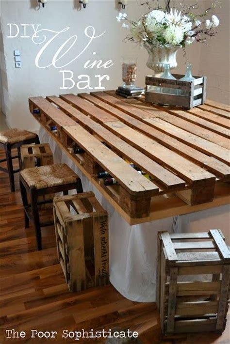 Inexpensive Bar Top Ideas 40 Creative Pallet Furniture Diy Ideas And Projects