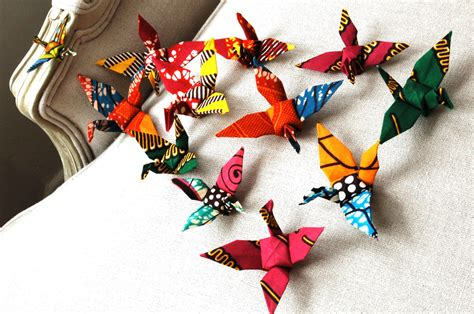 Origami Decorations - decoration handmade origami cranes flock of by