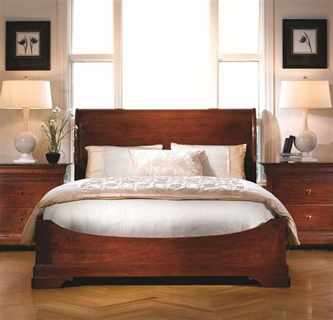 Stickley Furniture La Rochelle Sleigh Bed Crafted Of La Rochelle Bedroom Furniture