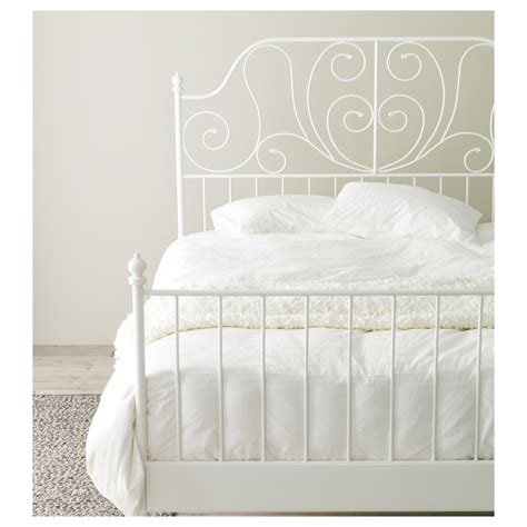 ikea double bed size leirvik bed frame white l 246 nset standard king ikea