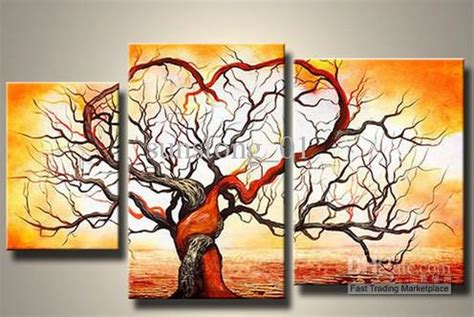 wall painting trees2018 2018 popular tree canvas painting morden landscape painting decorative