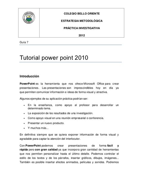 tutorial de powerpoint 2010 tutorial power point 2010 1