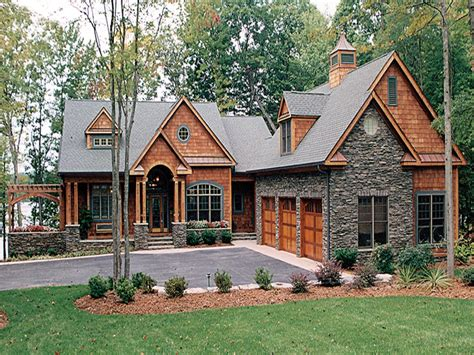 One Story Craftsman Style Homes by Lake House Plans With Walkout Basement Craftsman House
