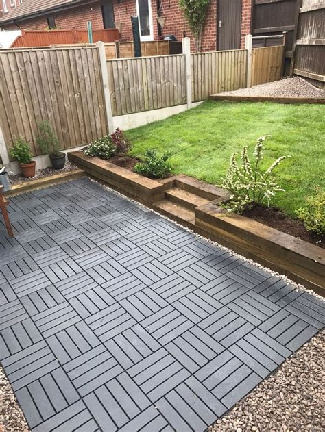ikea runnen decking tiles   create   garden