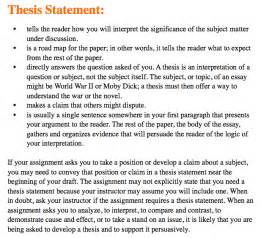 Thesis Statement For Essay by Essay Writing