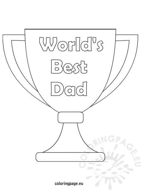 world s best dad coloring page