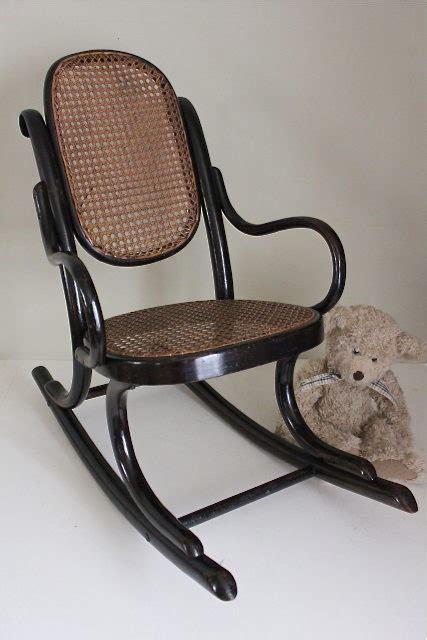 antique thonet bentwood rocking chair armchair 195231 thonet ebonised bentwood child s rocking chair antiques