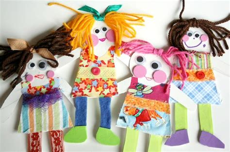 Paper Dolls Craft - paper dolls happy hooligans crafting with