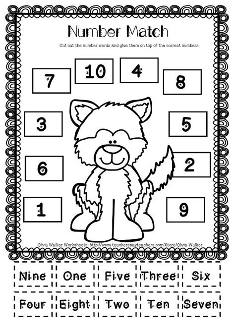 Number Words Worksheet 1 10 by Winter Math Numbers To 10 Recognise Numbers To Ten