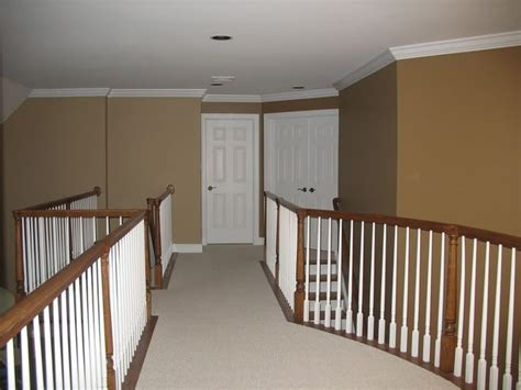 stairs sherwin williams latte 6108 color card 16 to the left going the back stairs