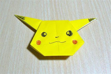 How To Make An Origami Pikachu - origami el arte de doblar papel pikachu