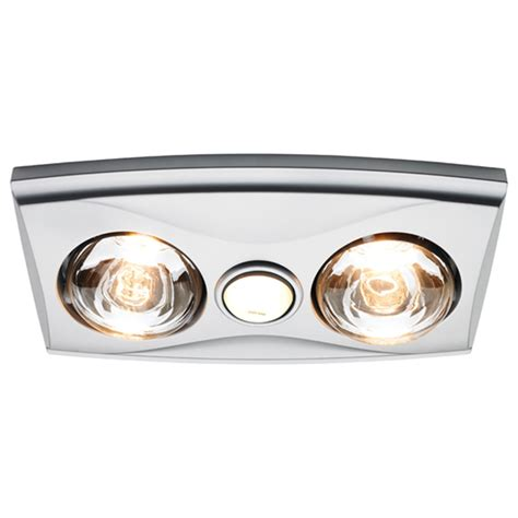 Bathroom Lights With Heaters Heller 3 In 1 Silver Bathroom Heater With Duct Bunnings Warehouse