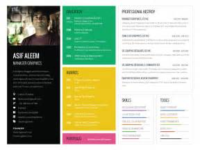 landscape one page resume template by asif aleem dribbble