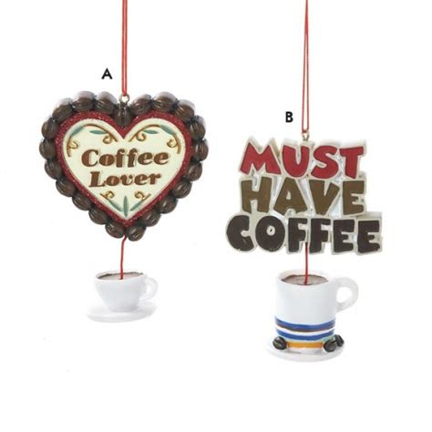 coffee break dangling coffee cup christmas ornament