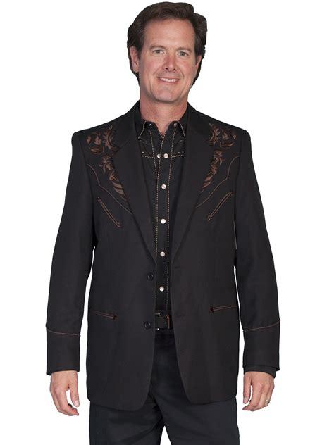 Black Back Embroidered Coat western sport coat floral embroidered coat westernshirts