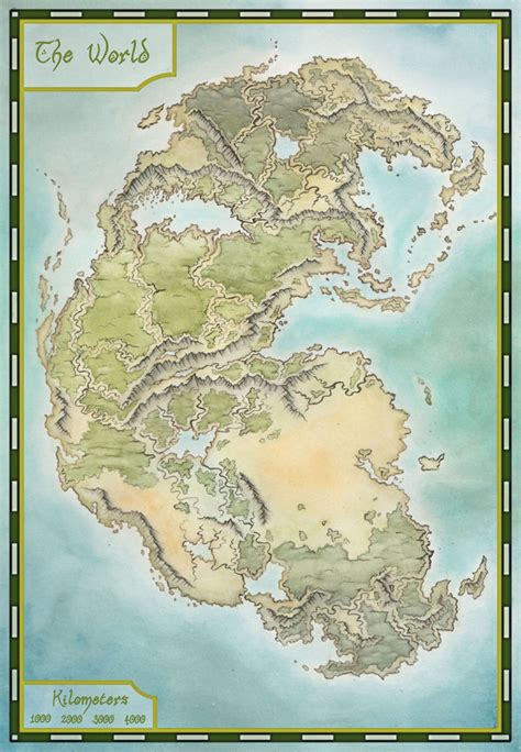 pangea map by lingonb on deviantart